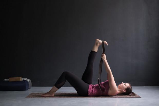 Asana jogi przydatna dla rowerzystów.