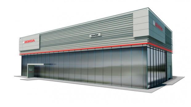 Wizualizacja nowego salonu Honda Gdańsk