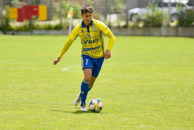 Maciej Jankowski strzelił pierwszego i zarazem najładniejszego gola z czterech, które padły w sparingu Arka Gdynia - Chemnitzer FC (2:2) w Gniewinie 6 lipca.