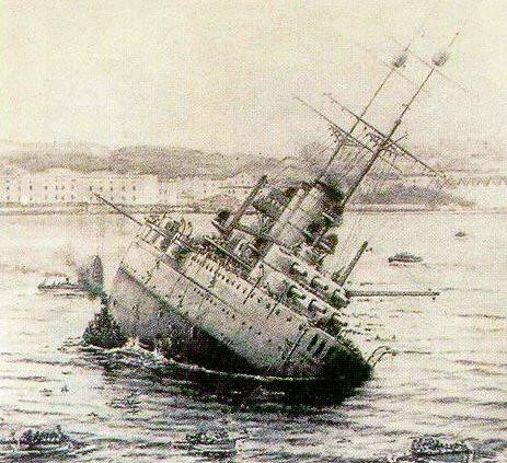 Cesarsko-królewski pancernik Viribus Unitis, przejęty przez królestwo Serbów, Chorwatów i Słoweńców i przemianowany na Jugoslavija, został zatopiony przez włoską żywą torpedę.