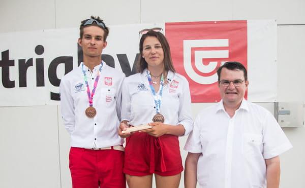Polska nadzieja żeglarska na igrzyska olimpijskie Paryż 2024: Hanna Dzik i Seweryn Wysokiński.