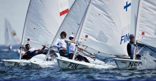 W klasie Laser Radial rywalizowało w Gdyni 57 żeglarzy.