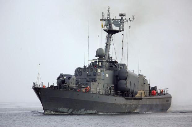 """ORP """"Metalowiec"""" na Zatoce Gdańskiej. Rok 2006."""