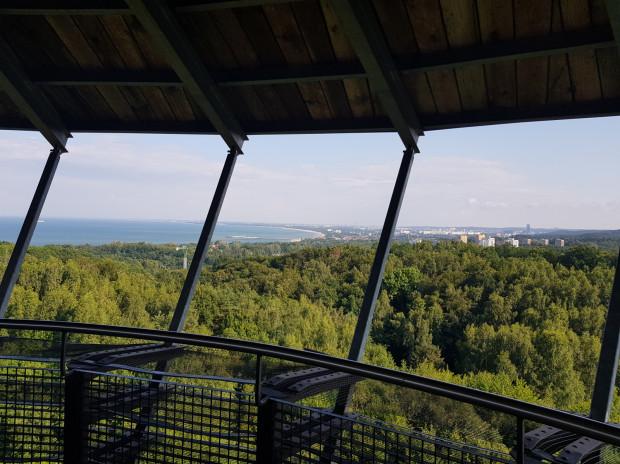 Widok z wieży w Kolibkach