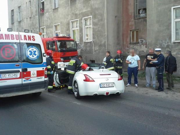 Zdjęcie wykonane tuż po wypadku, który spowodował Artur W.