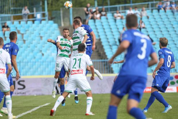 Artur Sobiech (nr 90) w tej sytuacji otworzył wynik meczu Wisła Płock - Lechia Gdańsk.