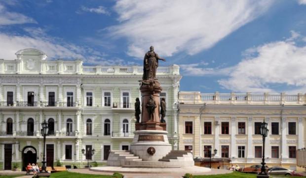Pomnik carycy Katarzyny II, wzniesiony pod koniec XIX wieku. To właśnie podczas jej panowania - a dokładnie w 1789 roku - tereny dzisiejszej Odessy zostały zdobyte na Turkach i wcielone do Rosji.