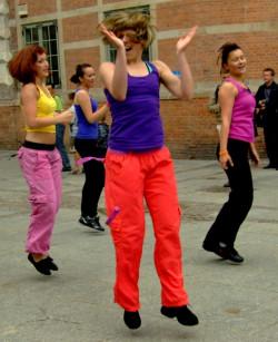 Tancerki z  TotalFit Center.