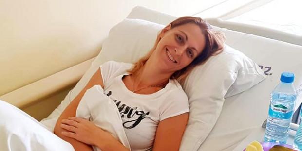 Pani Dominika, która od półtora roku choruje na złośliwy nowotwór.