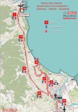 Trasa tegorocznego maratonu.
