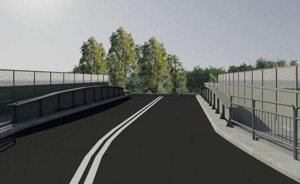 Wizualizacja wiaduktu po remoncie