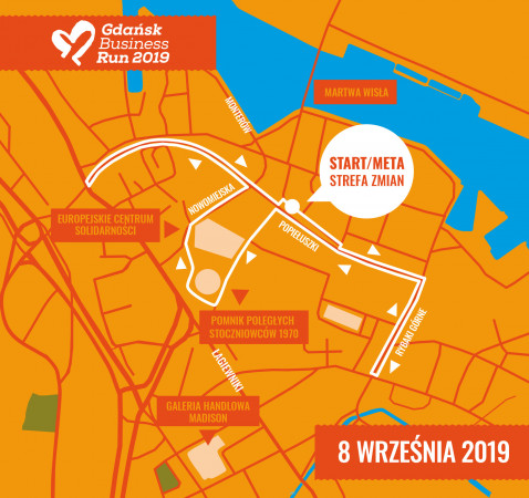 Trasa Gdańsk Business Run 2019.