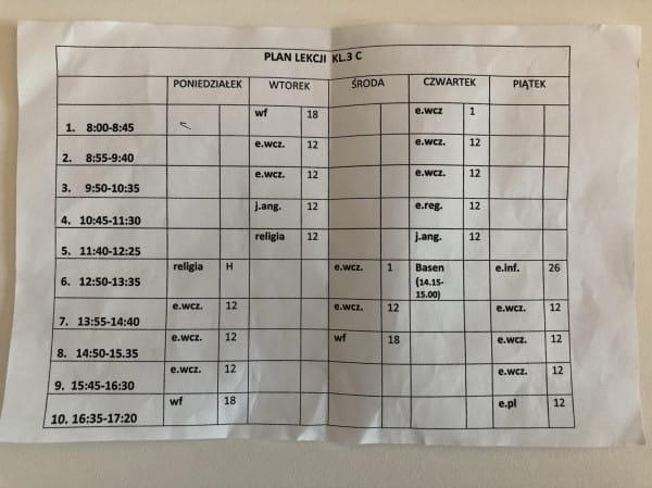 W Szkole Podstawowej nr 50 trzecioklasiści kończą lekcje nawet o godz. 17:20.