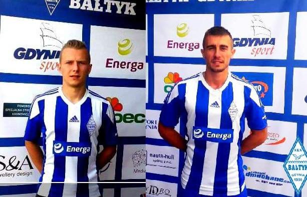 Tomasz Zając (z lewej) i Michał Bajdur (z prawej) to odpowiednio 17. i 18. wzmocnienia Bałtyku Gdynia od czasu zakończenia poprzedniego sezonu.