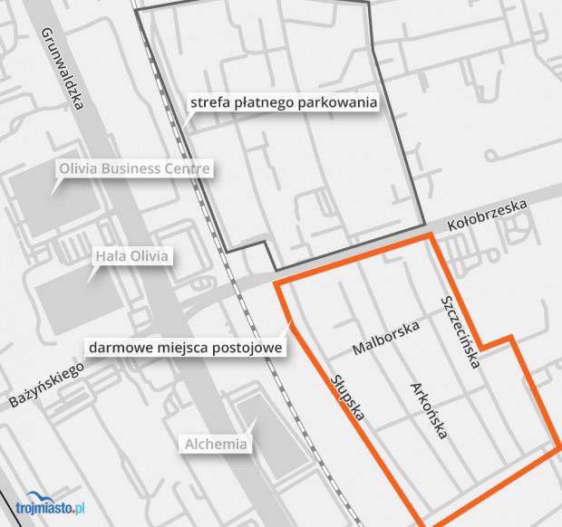 Strefa płatnego parkowania obowiązuje na Przymorzu tylko po północnej części ul. Kołobrzeskiej. Z problemem nadmiernej liczby samochodów walczą mieszkańcy wszystkich ulic w południowej części dzielnicy.