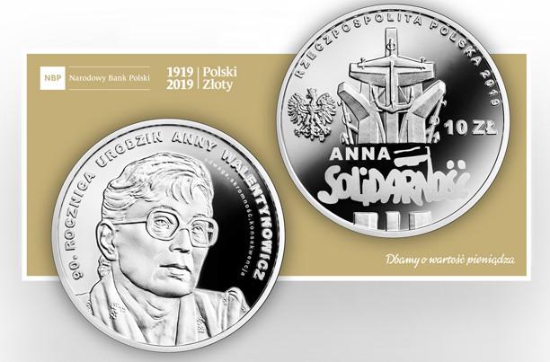 W ten sposób NBP uczcił 90. rocznicę urodzin Anny Walentynowicz