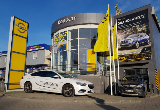 Gdański salon Opla należący do firmy Konocar