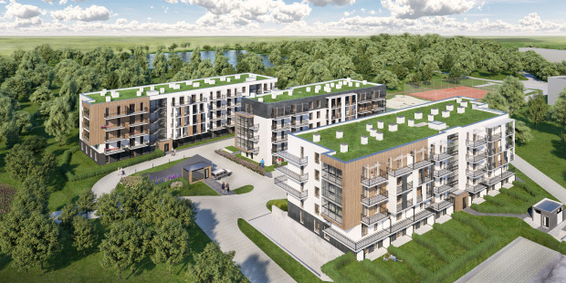 Osiedle powstaje nieopodal miejskiej plaży nad rzeką Radunią, blisko terenów rekreacyjnych, w otoczeniu zieleni. W aglomeracji trójmiejskiej jest niewiele takich lokalizacji.