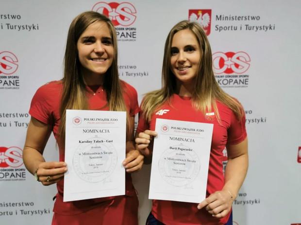 Daria Pogorzelec (z prawej) i Karolina Tałach-Gast to gdańskie judoczki, który rywalizują o kwalifikację olimpijską do startu w igrzyskach Tokio 2020.