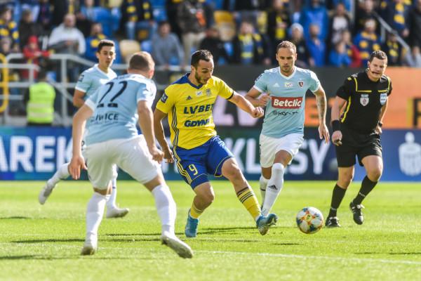 David Skhirtladze miał okazje, aby mecz rozstrzygnąć na korzyść Arki Gdynia.