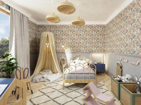 Obie propozycje przepojone są bajkową stylistyką, co ma zachęcać dwuletnią dziewczynkę do spędzania czasu we własnym pokoju.