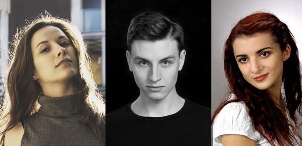 Nowe twarze w Teatrze Miejskim w Gdyni. Od lewej: Weronika Nawieśniak, Krzysztof Berendt i Martyna Matoliniec.