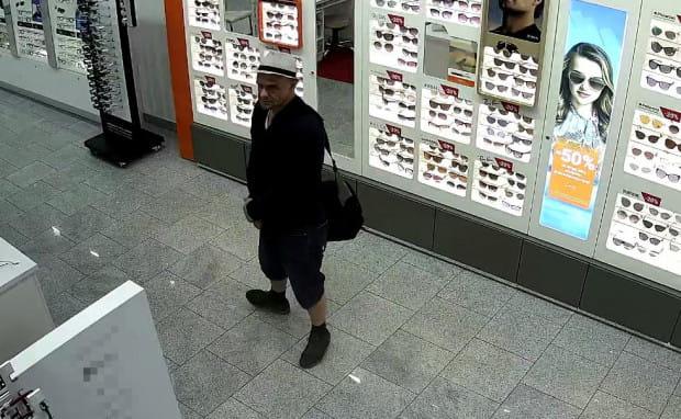 Mężczyzna poszukiwany w związku z kradzieżą w salonie optycznym.