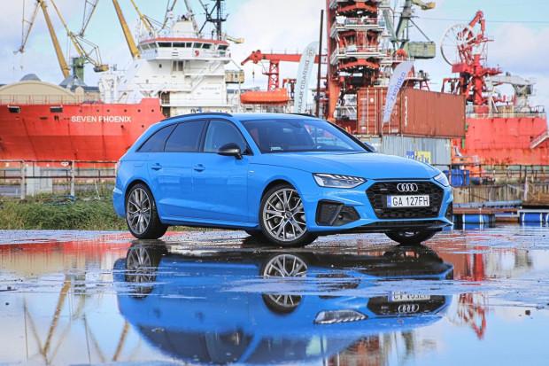 Nowe Audi A4 dostępne jest w trzech pakietach stylistycznych. Na zdjęciu model w usportowionym wariancie S Line.