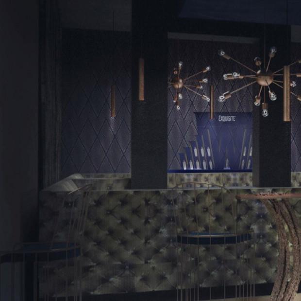 Wnętrze klubu będzie eleganckie i nowoczesne.
