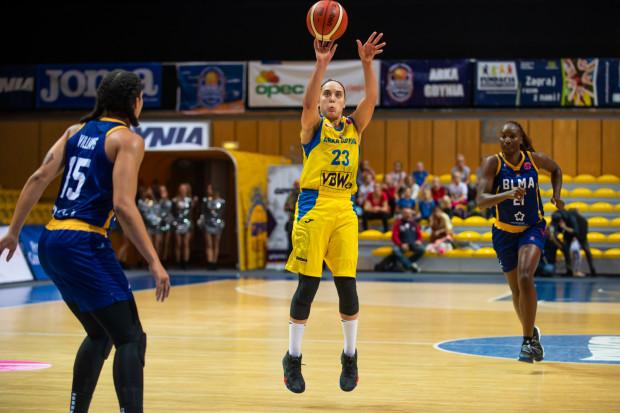 """Marissa Kastnek trafiła pięć """"trójek"""" i zdobyła łącznie 20 punktów, ale to nie wystarczyło do pokonania BLMA Montpellier."""