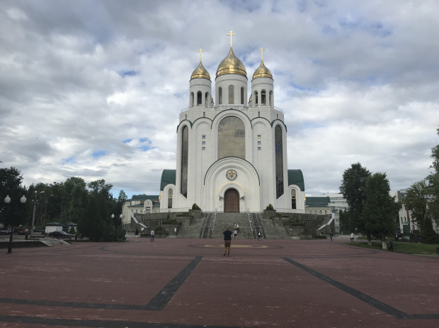 Sobór Chrystusa Zbawiciela przy placu Zwycięstwa w Kaliningradzie.