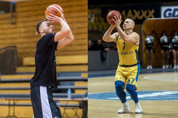 Mikołaj Kurpisz (z lewej, Trefl Sopot) i Krzysztof Szubarga (z prawej, Asseco Arka Gdynia) przyznają, że w koszykówce wiele zależy od mentalności.