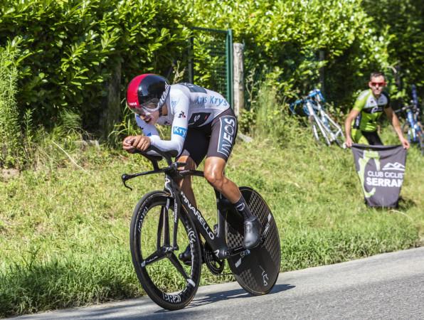 Egan Bernal z Kolumbii podczas 13. etapu Tour de France 2019.