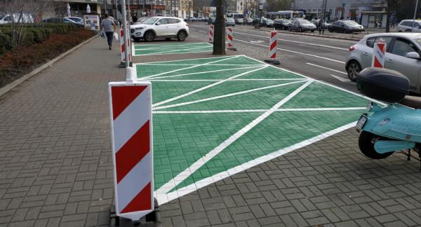 Zielony kolor ma symbolizować stawianie na ekologiczny transport w mieście.