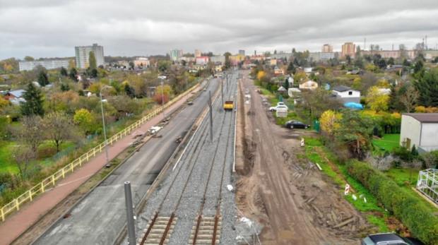 Za około dwa tygodnie otwarty zostanie odcinek trasy tramwajowej w ciągu ul. Wosia Budzysza.
