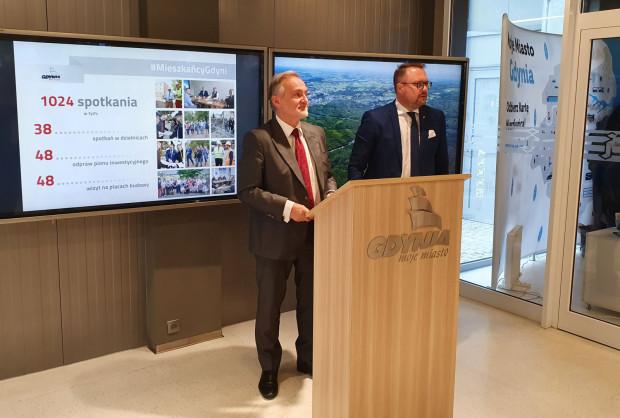 Inwestycyjne ruchy Gdyni w ostatnich 12 miesiącach podsumowali Wojciech Szczurek oraz Marek Łucyk.