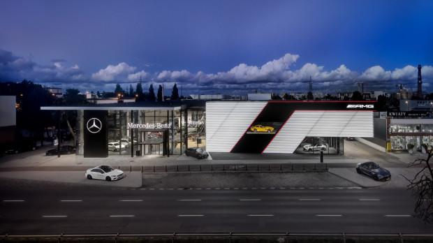 Nowoczesny salon Mercedes-Benz Witman w Oliwie.