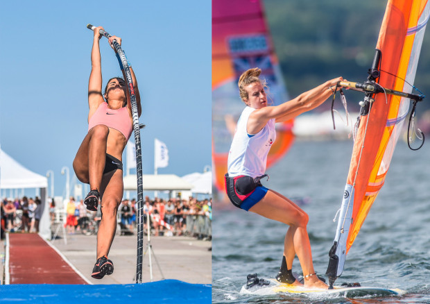 Agnieszka Kaszuba (z lewej) dzięki internetowej zbiórce, pozyskała środki na nowe tyczki. Karolina Lipińska (z prawej), zwróciła się o pomoc w zorganizowaniu wyjazdu na mistrzostwa świata.