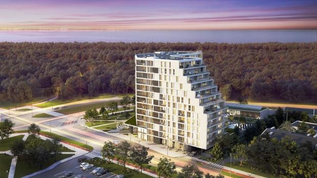 Tarasy Bałtyku to realizacja Allcon Osiedla, która zdobyła nagrodę Best Residential High-rise Development Poland w ramach prestiżowego European Property Awards 2019-2020. Jednym z udogodnień w tej inwestycji będzie stacja do ładowania pojazdów elektrycznych.