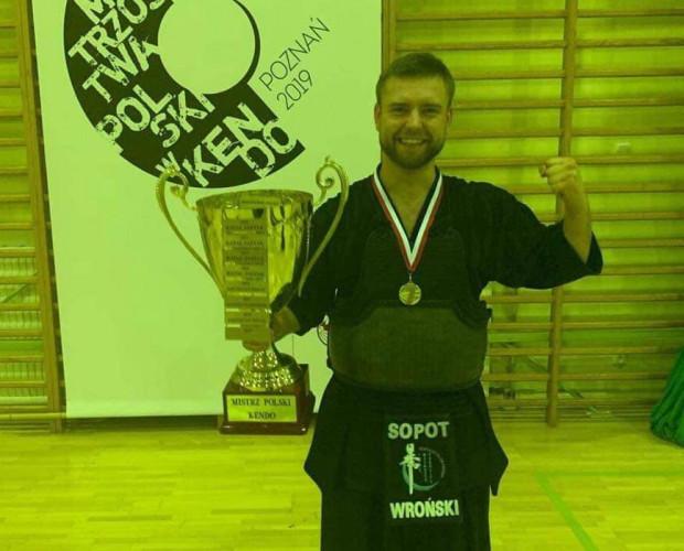 Maciej Wroński mistrz Polski 2019 w kendo.