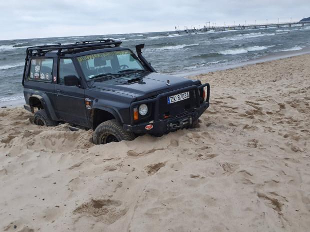 W tym roku na trójmiejskich plażach służby nie odnotowały takich zdarzeń. To jedyne, całkiem niedawno, miało miejsce na plaży w Mechelinkach.