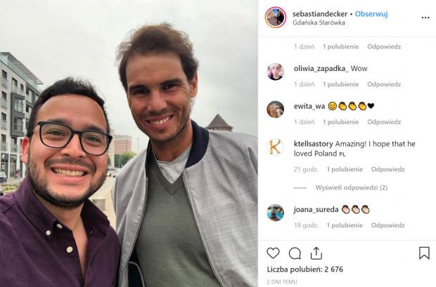 Tenisista Rafael Nadal odwiedził Gdańsk w czerwcu 2019 roku.