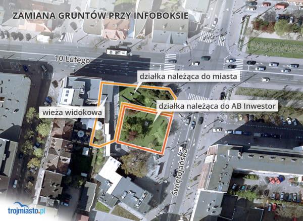 Jeśli radni Gdyni zgodzą się na zamianę terenów z deweloperem, ocaleje większość zielonego skweru, a pierzeja ul. 10 Lutego zostanie przedłużona.
