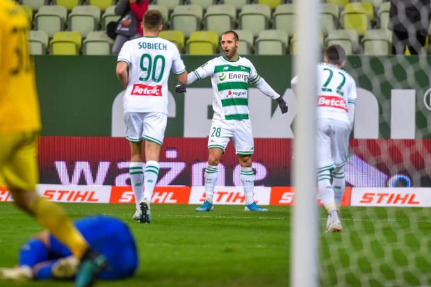 Flavio Paixao 150. mecz w barwach Lechii Gdańsk uczcił 2 golami.
