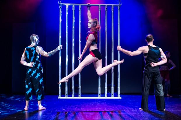 """Teatr Mira-Art to ścisła polska czołówka teatrów akrobatycznych. """"Four Seasons"""" jest jego najlepszym spektaklem. Na pierwszym planie Oriana Dobrowolska."""