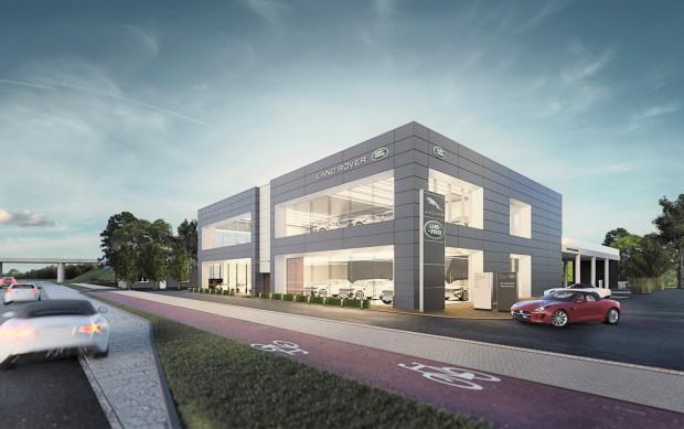 Na al. Grunwaldzkiej rośnie salon Land Rovera i Jaguara.
