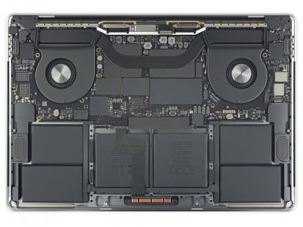 Wnętrze MacBooka Pro 16, ciasno tu!