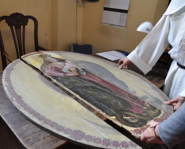 Brakujące części barokowego malowidła odnaleziono w kościele św. Mikołaja latem 2018 roku.