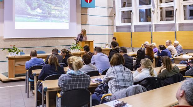 Jedna z wielu dyskusji planistycznych w 2019 r. - prezentacja zagospodarowania Polanki Redłowskiej.