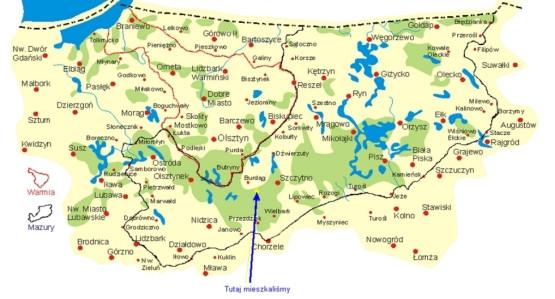 Pojezierze Mazurskie Okolice Szczytna